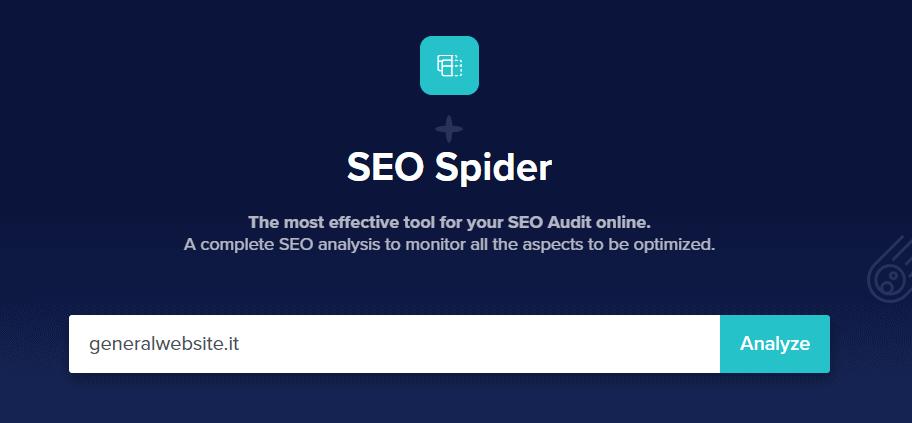 SEO Spider screen