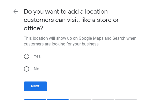 Google My Business second page