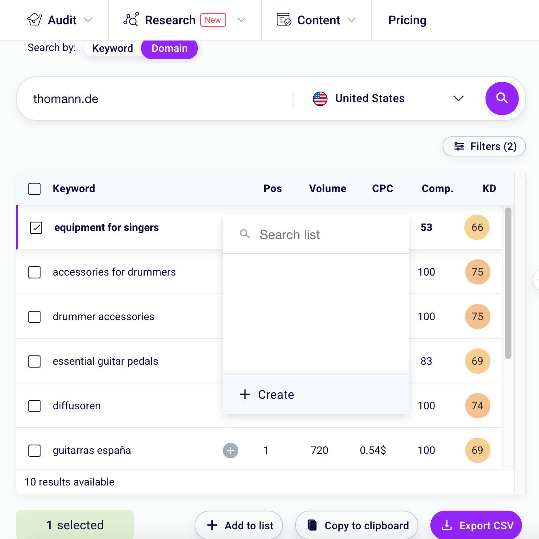 Keyword Explorer SEO Tester Online